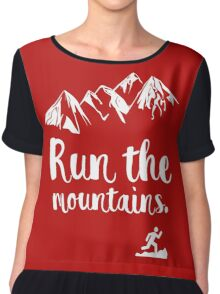 Run the mountains. For trail runners and cross country running Chiffon Top