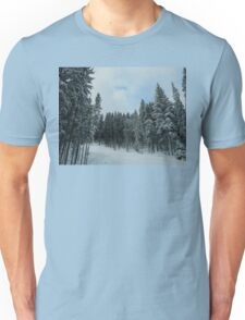 snowy fir forest Unisex T-Shirt