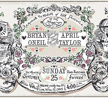 Wedding Invitation Labels and Banners by aurielaki