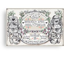 Wedding Invitation Labels and Banners Canvas Print