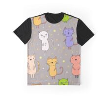 Seamless pattern with cartoon cats Graphic T-Shirt