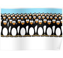 Pensive Penguin Army Poster