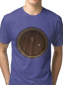 Glitch furniture door hobbit hole door Tri-blend T-Shirt