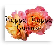 Kappa Kappa Gamma Rose Canvas Print
