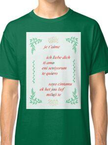 Valentine's Card: I Love You - Multi Classic T-Shirt