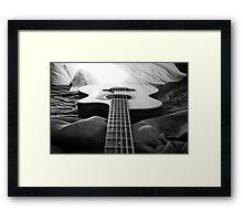 Black & White Guitar Framed Print