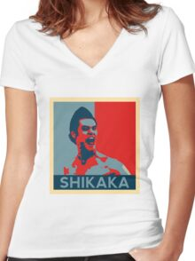 Shikaka - Detective Bat Movie Women's Fitted V-Neck T-Shirt