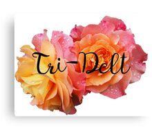 Tri-delt delta delta delta rose Canvas Print