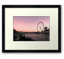 London Eye, Sunrise, London Framed Print