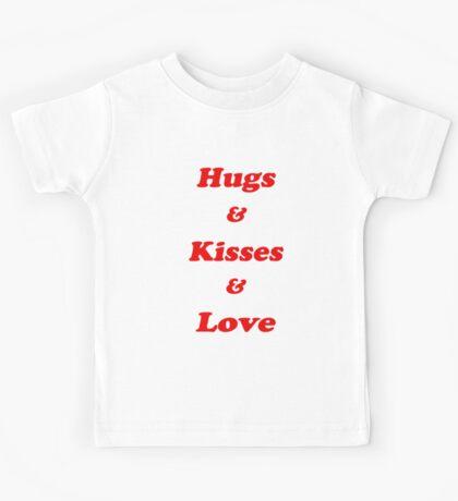 Valentine's Cards: Hugs & Kisses & Love Kids Tee