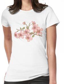 Pink sakura Womens Fitted T-Shirt