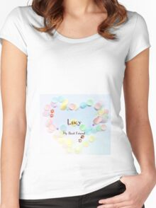 Lucy - my best friend Women's Fitted Scoop T-Shirt