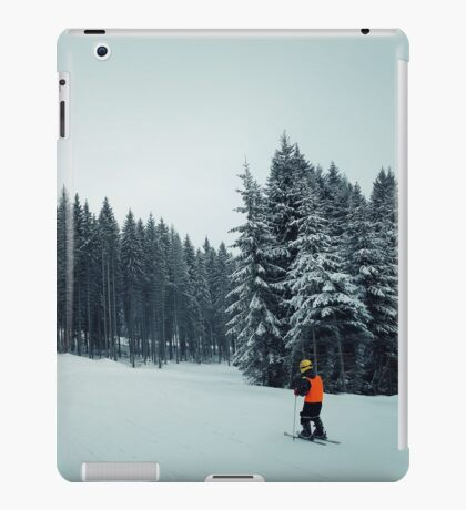 kid ski iPad Case/Skin