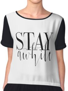 """Printable """"Stay Awhile"""", Modern Minimalist, Stay Awhile Poster,Quotes Printable, Typography, Scandinavian,Wall Decor, Affiche Scandinave Chiffon Top"""
