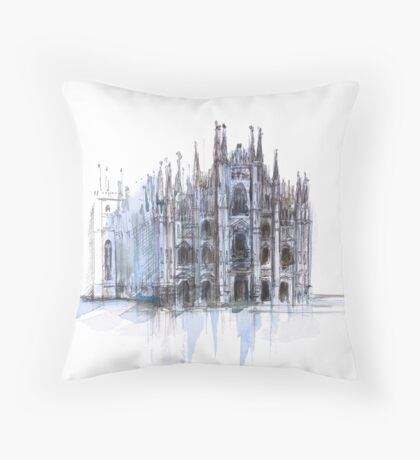 Duomo di Milano. Milan Cathedral. Throw Pillow