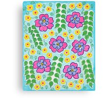 Pink and Yellow Flowers Canvas Print