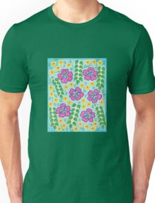 Pink and Yellow Flowers Unisex T-Shirt