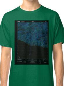 USGS TOPO Map California CA Triunfo Pass 20120405 TM geo Inverted Classic T-Shirt