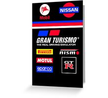 Nissan Retro Racesuit Design Greeting Card