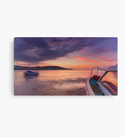 'Sunset Rose' on Instow beach Canvas Print