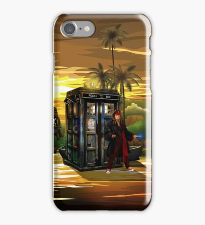 time and space traveller lost in the pirates AGE iPhone Case/Skin