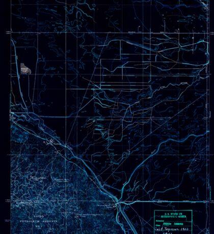 USGS TOPO Map California CA Tupman 296573 1933 31680 geo Inverted Sticker