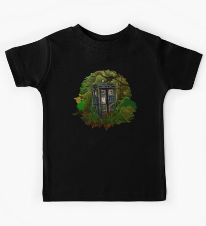 Abandoned time and space traveller Blue Phone Box Kids Tee