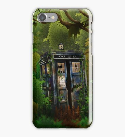 Abandoned time and space traveller Blue Phone Box iPhone Case/Skin