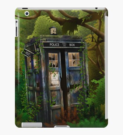 Abandoned time and space traveller Blue Phone Box iPad Case/Skin
