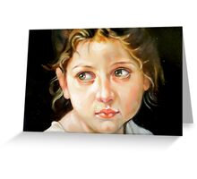 study head after W. Bouguereau Greeting Card