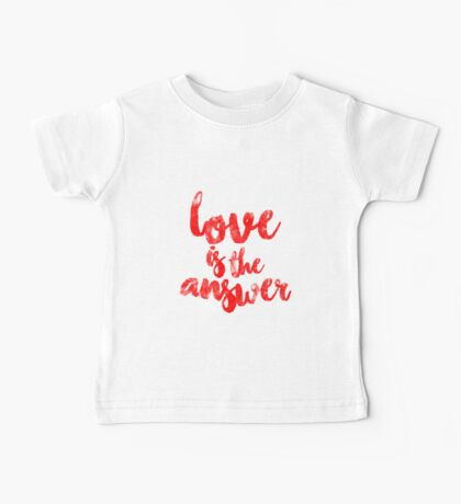 Love Is The Answer Baby Tee
