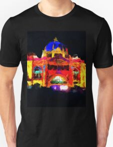 flinders st station melbourne victoria abstract Unisex T-Shirt
