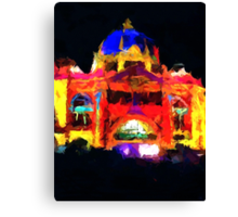 flinders st station melbourne victoria abstract Canvas Print