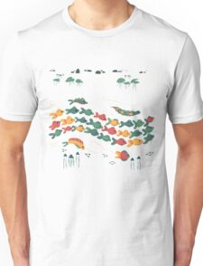 A Stream With Bright Fish Unisex T-Shirt
