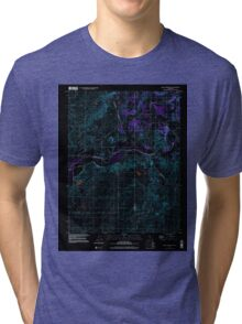 USGS TOPO Map California CA Valley Springs SW 102545 1998 24000 geo Inverted Tri-blend T-Shirt