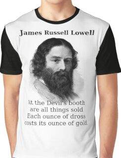 At The Devil's Booth - James Russell Lowell Graphic T-Shirt