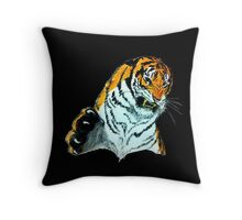 Tiger Clawing Throw Pillow