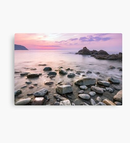 Purple toned sunset at Mouthmill Canvas Print