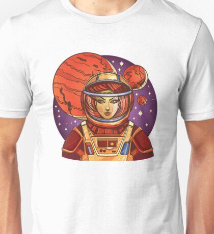 Astronaut girl Unisex T-Shirt