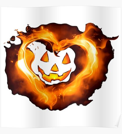 Halloween Heart Funny Halloween Shirts Poster