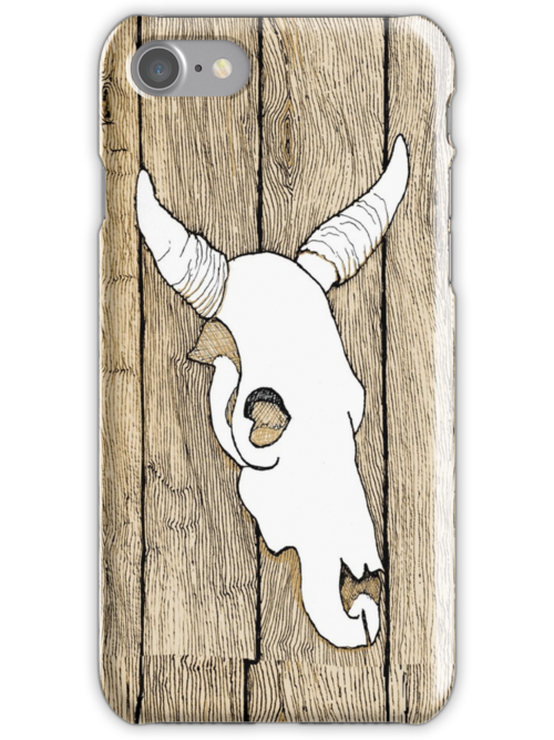 Cow Skull hanging on the barn by James Lewis Hamilton