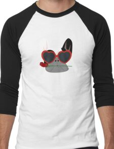 Valentines Bulldog Men's Baseball ¾ T-Shirt