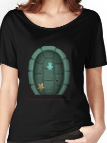 Glitch furniture door turtle shell door Women's Relaxed Fit T-Shirt