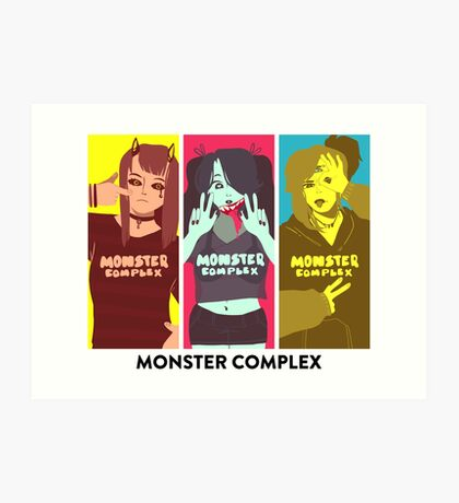 Monster Complex - Pose! Art Print