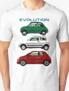 Evolution of the Fiat 500 T-Shirt