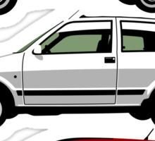 Evolution of the Fiat 500 Sticker
