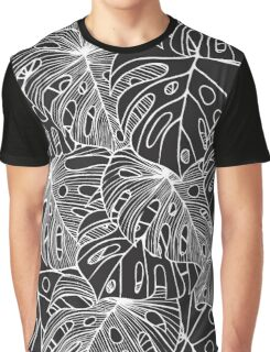 B&W Philodendron Graphic T-Shirt