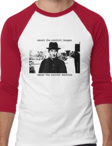 Smash the Control Images ~ William Burroughs Men's Baseball ¾ T-Shirt