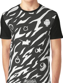 Zebra Camouflage Linux Inverted Graphic T-Shirt