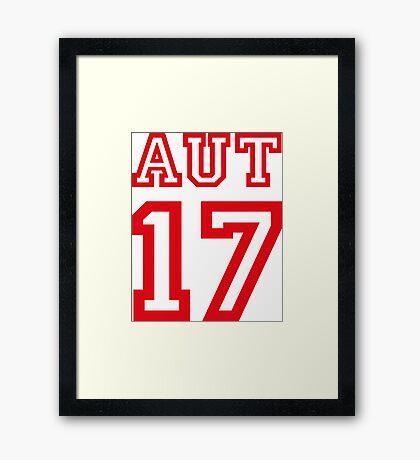 AUSTRIA 17 Framed Print